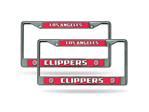 Rico Los Angeles Clippers NBA Chrome Metal (2) License Plate Frame Set