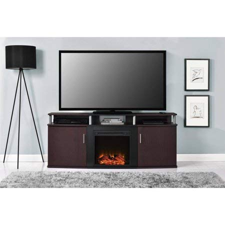carson electric fireplace tv console