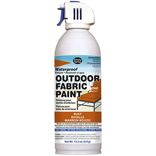 Deval Products OF0046006M Outdoor Spray Fabric Paint, 13.3 oz, Rust]()