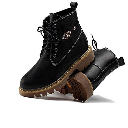 Botines antideslizantes para mujeres Calor plano antideslizante Ocio de invierno caminando , 38 , black 40