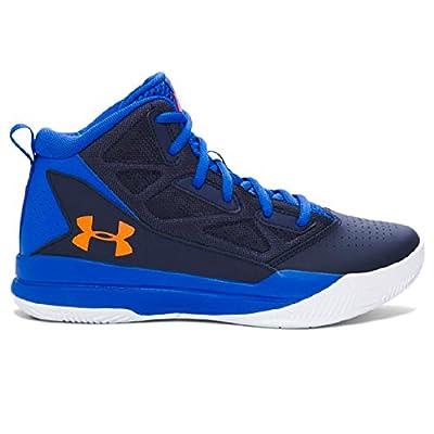 Under Armour Boys Grade School UA Jet Mid Basketball Shoes 5 ULTRA BLUE