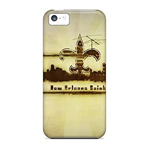 MMZ DIY PHONE CASEShock Absorbent Hard Cell-phone Cases For iphone 4/4s With Unique Design Colorful New Orleans Saints Pattern JacquieWasylnuk