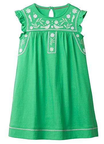 Fiream Toddler Girls Cotton Longsleeve Casual Dresses Applique Cartoon(JP007,6T/6-7YRS)