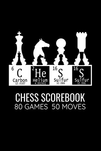 (Chess Scorebook 80 Games 50 Moves: Record your Games, Track your Moves & Analyse your Strategies | 80 Games, 50 Moves | Easy To Carry (80 scoresheet ... for Chess players | Championship Notebook)