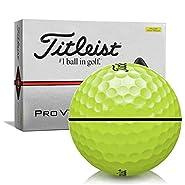 Titleist Pro V1x Yellow AlignXL Personalized Golf Balls