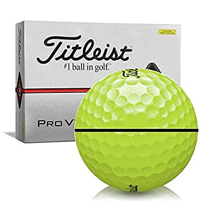 Titleist Pro V1x Yellow AlignXL Personalized Golf Balls