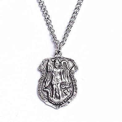 9eef87e41d4 Amazon.com: Zemmys Saint Michael Patron of Police Officers Shield ...