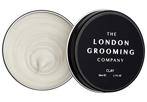 The London Grooming Company Clay for Men - Firm Hold and Dry Matte Finish - 1.7oz Water Based Men's Hair Product, Easy to Wash Out - Oud Wood Scent