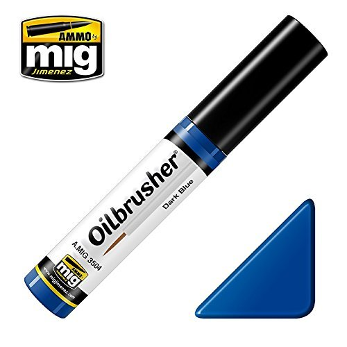 Ammo of Mig #3504 Oilbrusher オイルペイント ダークブルーセット 極細ブラシアプリケーター付き   B01M4NN7ON