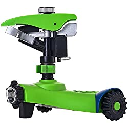 Greenmount Lawn Sprinkler with 2 Interchange Heads, Anti-tipping Garden Water Sprinkler Perfect for Garden Lovers Irrigating and Kids Playing
