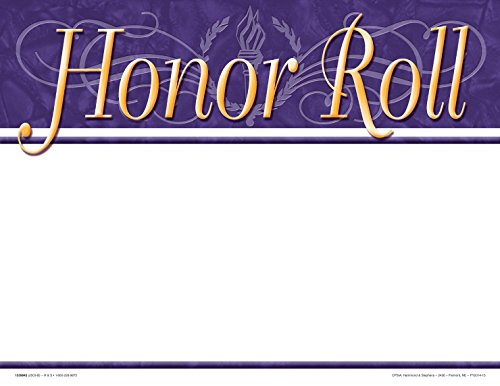 - School Smart 1337653 Honor Roll Recognition Focus Award - Blank Item (Pack of 25)