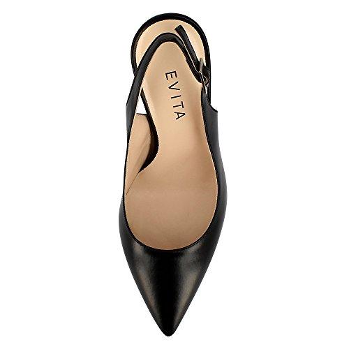 Evita Shoes Alina - Zapatos de vestir de Piel para mujer negro