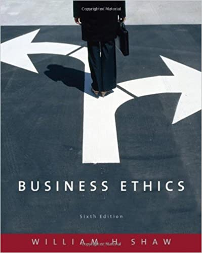 Amazon business ethics 9780495095019 william h shaw books fandeluxe Choice Image
