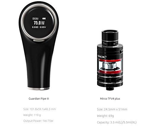 Smok Tech Guardian III - Pipa electrónica, 75 W, control de temperatura, sin tabaco, alquitrán ni nicotina, para mayores de 18: Amazon.es: Salud y cuidado ...