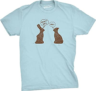 Mens My Butt Hurts Chocolate Bunny T Shirt Funny Candy Tee
