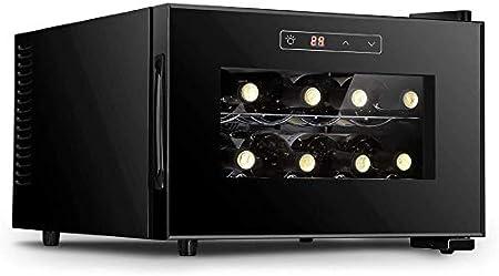 Enfriador de vino electrónico Refrigerador para vino tinto y blanco independiente 8 botellas Bar pequeño para el hogar Bodega Control digital Puerta de vidrio Refrigerador vertical-Horizontal