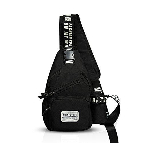 (FANDARE Sling Bag Crossbody Bag Shoulder Bag Hiking Backpack Men/Women Polyester)
