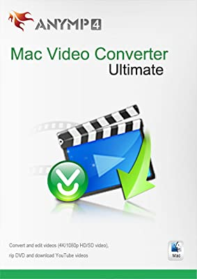 AnyMP4 Video Converter for Mac Ultimate Lifetime License - Convert 4K/1080p HD/SD video to any popular video/audio format like MP4, AVI, MOV, M4V, MPEG, FLV, WMV, MP3, WMA and more, edit video, rip DVD and download online videos from YouTube, Facebook, Vi