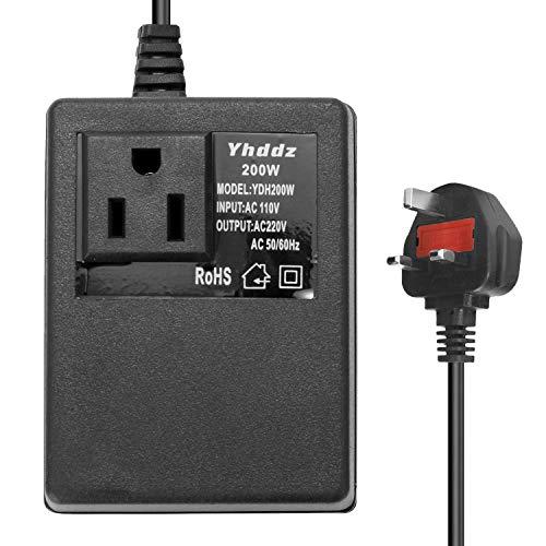 Intelligent Efficient Household 200W AC 110V to 220V Step Down Transformer Voltage Converter Travel Power Adapter