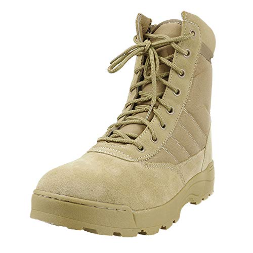 Army Mens Shoes - KARKEIN Military Tactical Boots Women Men Comp Toe Jungle Combat Boots Side Zip
