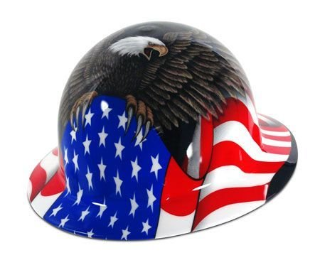 Spirit of America Hard Hat - Full Brim - FMX Fibre Metal