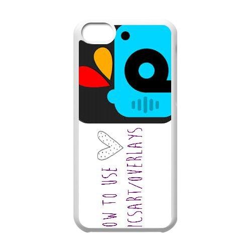 Picsart 002 coque iPhone 5C Housse Blanc téléphone portable couverture de cas coque EEEXLKNBC18975