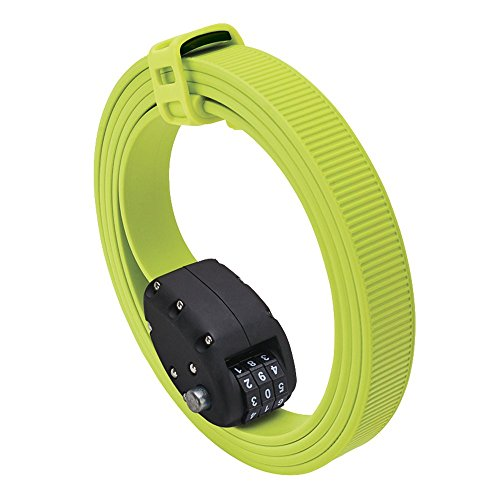Combination Bike Lock 4 Ft Long Black Bike Lock Cable Self Coiling Braided Steel