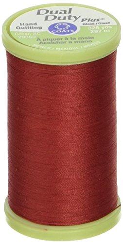 Coats Hand Quilting Thread - Coats Thread & Zippers Dual Duty Plus Hand Quilting Thread, 325-Yard, Red