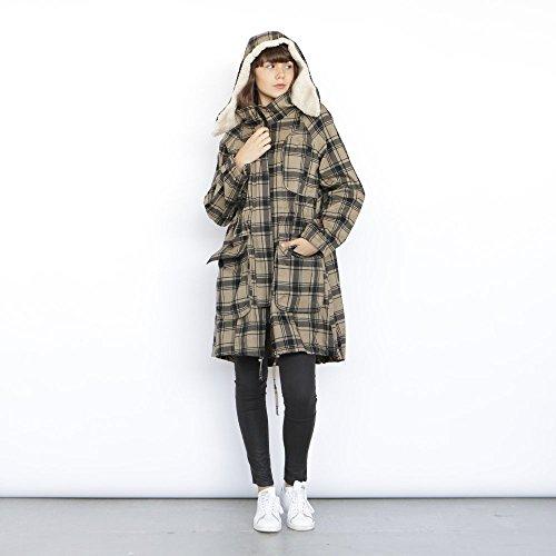 Monti Coat , plaid winter coat, military jacket. by Naftul