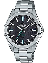 Men's Quartz Stainless Steel Strap, Silver, 20 Casual Watch (Model: EFR-S107D-1AVCR)