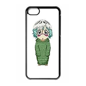 iphone5c Phone Case, Casual Fashion Cartoon Nel Background Designs Phone Case(Hard shell,Black)