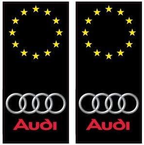 droits audi logo /étoiles autocollant plaque immatriculation auto ville sticker Angles
