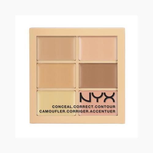 NYX Conceal Correct Contour Palette 3CP01 Light (0.05 Oz) ()