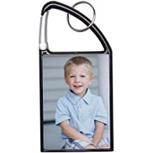 2x3 Snap-In Photo Carabiner Keychain (Black)
