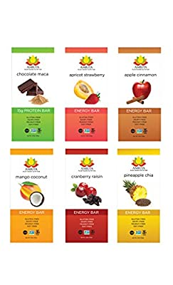 Paleo Variety Pack of Energy High Protein Bars - Gluten-Free, Soy-Free, Dairy-Free, Non-GMO Certified - Vegan, Raw, Kosher - Kid-School Safe Snack - Clean fuel for athletes - Pack of 12 bars by Amrita