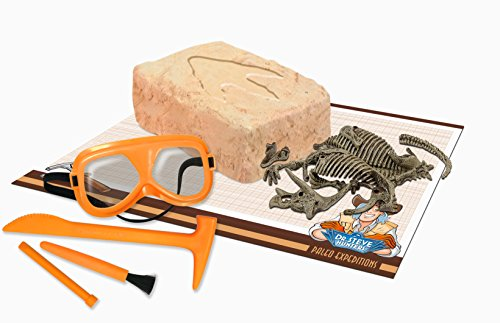 Uncle Milton Dr. Steve Hunters - Paleo Expedition Dino Dig Excavation Kit Triceratops - 12Piece - Scientific Educational ()