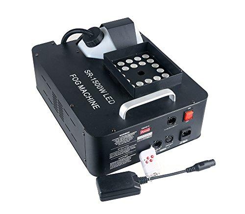 Led Fog Machine,1500w Upward Spray Smoke Machine, With 24x3w 3in1 Led,Wireless Remote Control,Use For Disco, Ballroom, KTV, Bar,Club, Party, Wedding ()