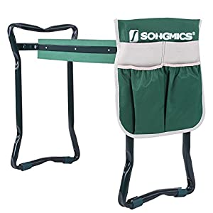 SONGMICS Folding Garden Kneeler - Folding Bench Stool with Kneeling Pad for Gardening - Sturdy, Lightweight and Practical - Protect Your Knees and Clothes When Gardening - Gardening Gift UGGK49L