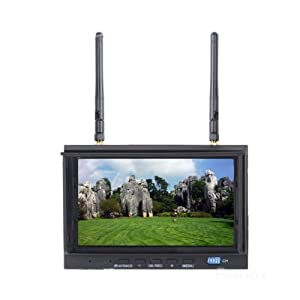 Skyzone SKY-700D 5.8GHz 32CH FPV Monitor & Diversity Receiver 7 inch LCD FPV Monitor Built-in DVR Recording