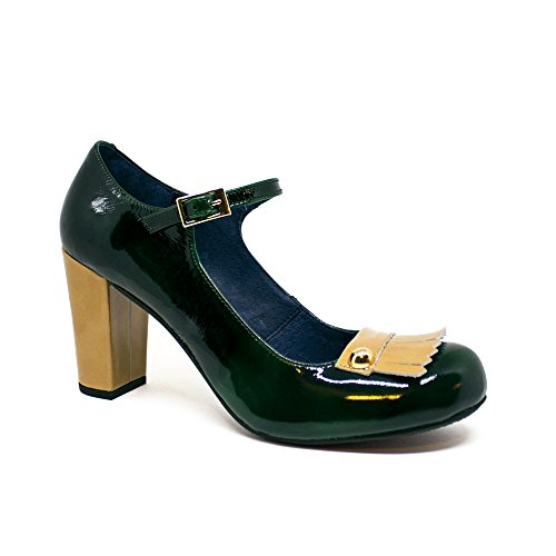 de Tacón Georgina Mostaza Charol Tacón Verde Zapatos up Pin qfBBXY1wH