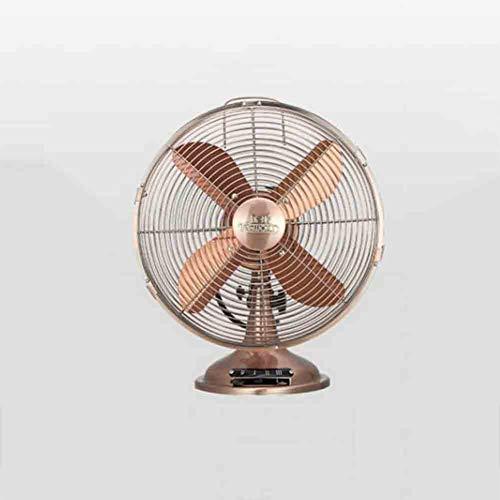 Copper Fan Grills (Sunny 12-Inch Luxury Oscillating Desk Fan Electric Fans Floor Standing Fan For Office, Bedroom, Bedside (Color : Red copper/))