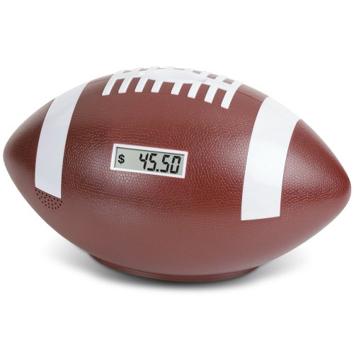 Football Coin Counting Piggy Bank - Count Coins and Save Money (Coin Football)