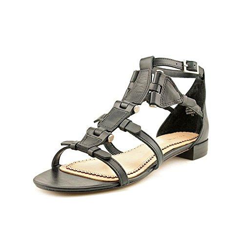 Pour La Victoire Women's Eleni Heritage Flat Sandal, Black, 9.5 M US