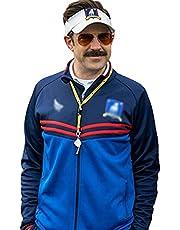 Jason Sudekis Blue Track Jacket - Lightweight Fleece Football Track Jacket - Ted Lesso Track Jacket