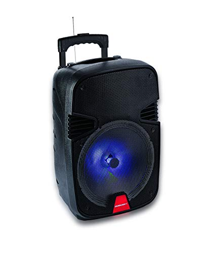 Wireless Light-up Bluetooth Speaker 50W Tailgate Stereo Boombox Pulse Rave Party, 3.5mm Aux Jack, Mic Input, FM Radio Tuner, Micro SD (TF) Card Slot, USB Port, Carrying Handle for Travel (Trailblazer) ()