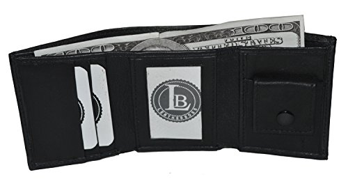 Small compact kids baby trifold Wallet (Black)