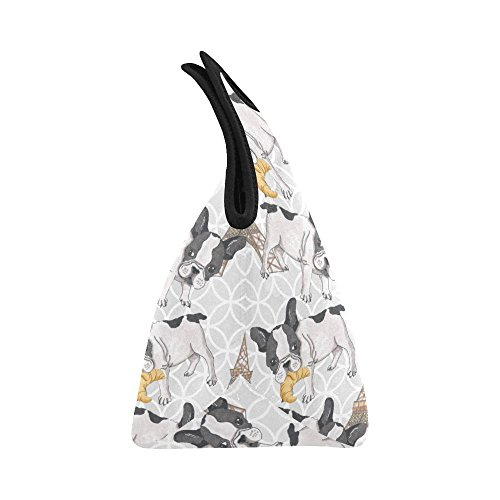 d2bf2a0f20d4 Gogogosky Neoprene French Buldog With Eiffel Tower Lunch Bag Lunch Box  Lunch Tote Bag