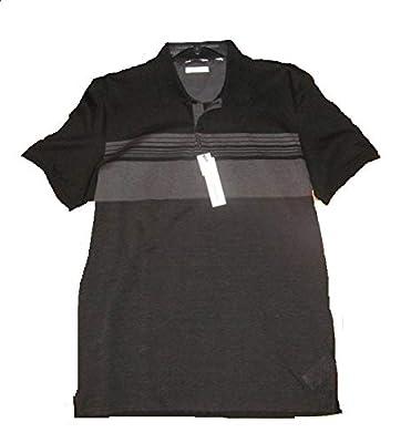 Calvin Klein Men Black Slim Fit Liquid Touch Cotton Polo