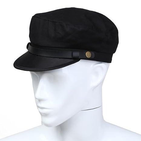 sulle immagini di piedi di scarpe eleganti classico Dcolor Uomo Cappelloda marinaio Comandante cappello nero cotone Nuovo