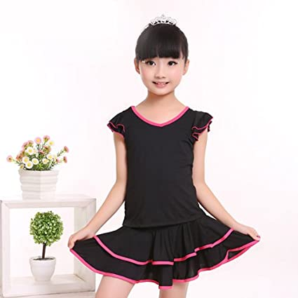 7425ed64b Image Unavailable. Image not available for. Color: Embiofuels(TM) Children  Double V-Neck Ballroom Dresses ...
